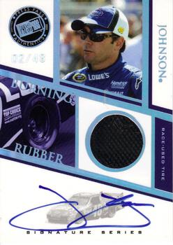 2009 Press Pass - Burning Rubber Autographs #BRSJJ Jimmie Johnson Front