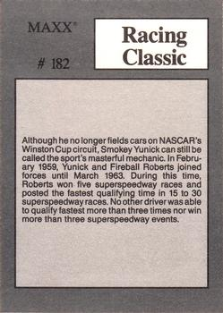 NASCAR SMOKEY YUNICK 1995 UPPERDECK RACING CARD #160 Autoracen