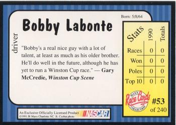 1991 Maxx #53 Bobby Labonte Back