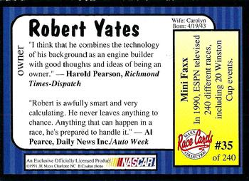 1991 Maxx #35 Robert Yates Back