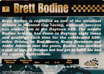 1995 Action Packed Stars #7 Brett Bodine Back