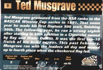 1995 Action Packed Stars #9 Ted Musgrave Back
