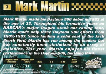 1995 Action Packed Stars #3 Mark Martin Back