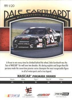 2011 Press Pass Legends - Motorsports Masters Brushed Foil #MM1 Dale Earnhardt Back
