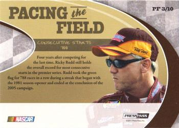 2011 Press Pass Legends - Pacing The Field Holofoil #PF3 Ricky Rudd Back
