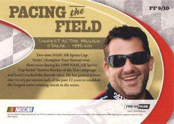 2011 Press Pass Legends - Pacing The Field Holofoil #PF9 Tony Stewart Back
