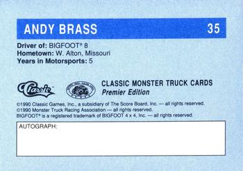 1990 Classic Monster Trucks #35 Andy Brass Back