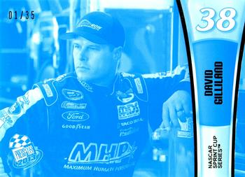 2013 Press Pass - Color Proof Cyan #15 David Gilliland Front