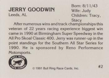 1991 Bull Ring #2 Jerry Goodwin Back