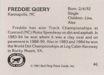 1991 Bull Ring #6 Freddie Query Back