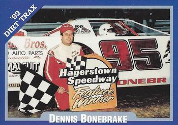 1992 Volunteer Racing Dirt Trax #55 Denny Bonebrake Front