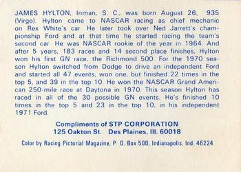 1972 STP #NNO James Hylton Back