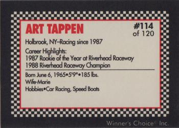 1991 Winner's Choice New England #114 Art Tappen Back