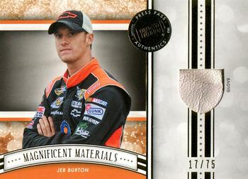 2012 Press Pass Fanfare - Magnificent Materials Gold #MM-JB4 Jeb Burton Front