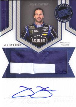 2013 Press Pass Fanfare - Magnificent Materials Signatures Jumbo #MMSE-JJ Jimmie Johnson Front