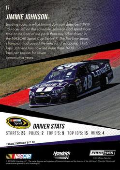 2014 Press Pass #17 Jimmie Johnson Back