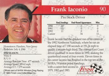 1993 Finish Line NHRA #90 Frank Iaconio Back
