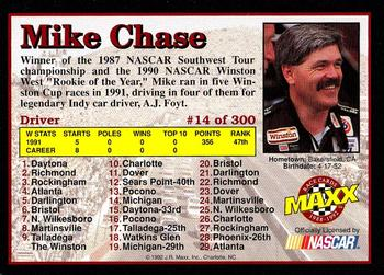 1992 Maxx 5th Anniversary #14 Mike Chase Back