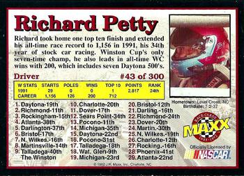 1992 Maxx 5th Anniversary #43 Richard Petty Back