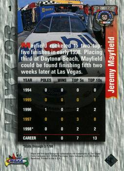 1998 Maxx #1 Jeremy Mayfield Back