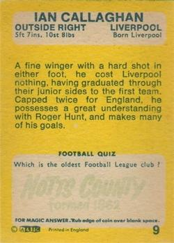 1968-69 A&BC Gum #9 Ian Callaghan Back