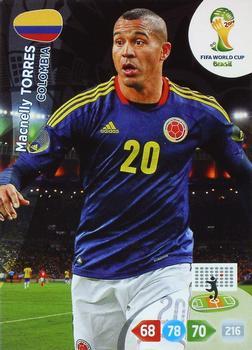 Panini 197 Macnelly Torres Kolumbien FIFA WM 2014 Brasilien