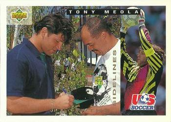1993 Upper Deck World Cup Preview English/Spanish #149 Tony Meola Front