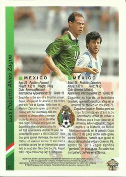 1993 Upper Deck World Cup Preview English/Spanish #41 Luis Roberto Alves Back