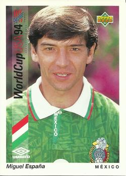 1993 Upper Deck World Cup Preview English/Spanish #42 Miguel España Front