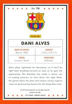 2015 Donruss #74a Dani Alves Back