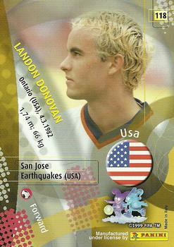 2002 panini world cup 118 landon donovan back