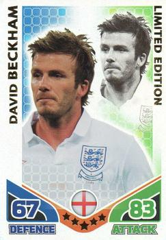 2010 Topps Match Attax South Africa World Cup - Limited Edition #NNO2 David Beckham Front