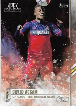 2015 Topps Apex MLS #89 David Accam Front