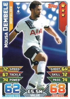 Match ATTAX 2013//14 premier League #318 MOUSA DEMBELE-tottenham Hotspur