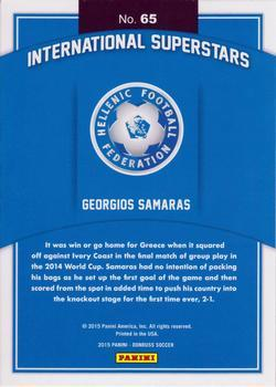 2015 Donruss - International Superstars Gold Panini Logo #65 Georgios Samaras Back