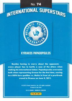 2015 Donruss - International Superstars Gold Panini Logo #74 Kyriakos Papadopoulos Back