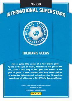 2015 Donruss - International Superstars Gold Panini Logo #88 Theofanis Gekas Back