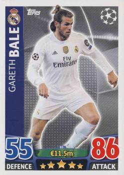 4decc8e33 2015-16 Topps UEFA Champions League Match Attax English #85 Gareth Bale
