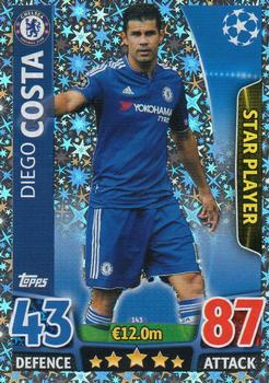 2015-16 Topps Match Attax UEFA Champions League English #143 Diego Costa Front