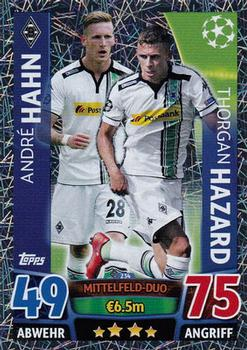 2015-16 Topps UEFA Champions League Match Attax English #234 Andre Hahn / Thorgan Hazard Front