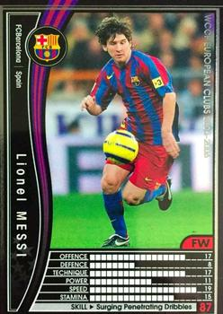 2005-06 Panini WCCF European Clubs #287 Lionel Messi Front