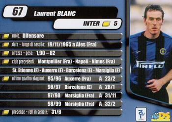 2000 DS Planeta Calcio Serie A #67 Laurent Blanc Back