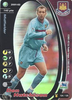 Topps Premier Gold 2002-West Ham United DON HUTCHISON-WH6
