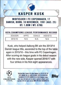 2017 Topps UEFA Champions League Showcase #74 Kasper Kusk Back