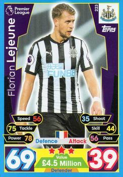 Match Attax 2017//18 Premier League #224 Javier Manquillo-Newcastle United
