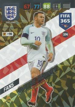 2017-18 Panini FIFA 365 Adrenalyn XL #374 Wayne Rooney Front