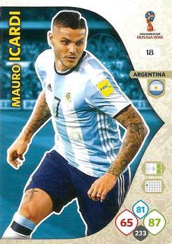 #287 MAURO ICARDI 2018 Panini WORLD CUP Soccer Sticker ARGENTINA