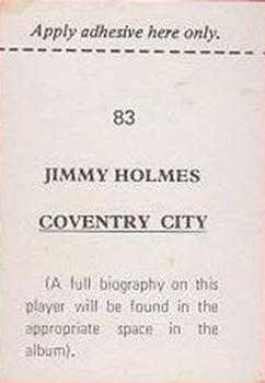 1974-75 FKS Publishers Wonderful World of Soccer Stars #83 Jimmy Holmes Back