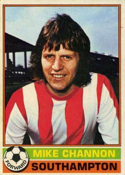 TOPPS-FOOTBALL MIKE CHANNON -#190- SOUTHAMPTON RED BACK 1975