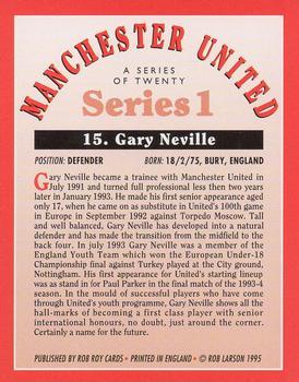 Merlin Premier Gold 1996//97 # 090-manchester united-gary Neville